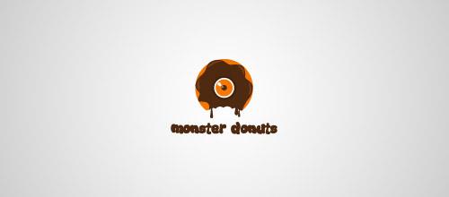 monster donuts logo design