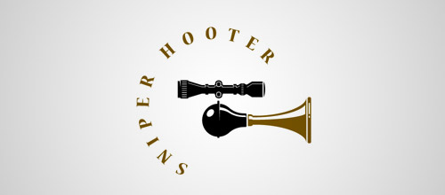 sniper gun logo design
