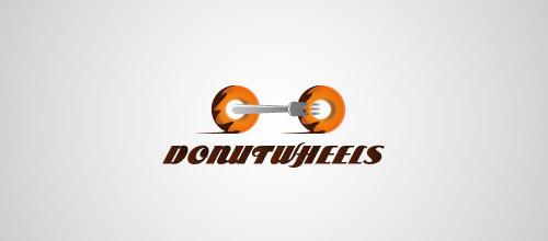 donut wheels logo design