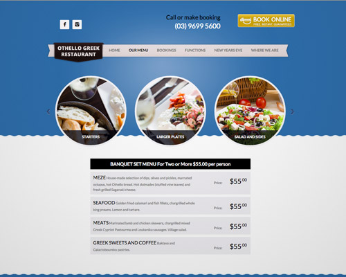 greek food web design