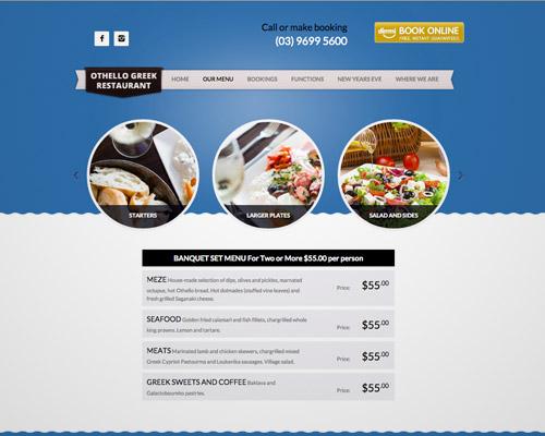 greek food web design