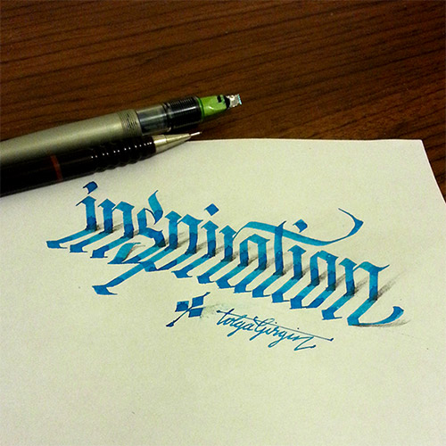 inspiration 3D calligraphy tolga girgin