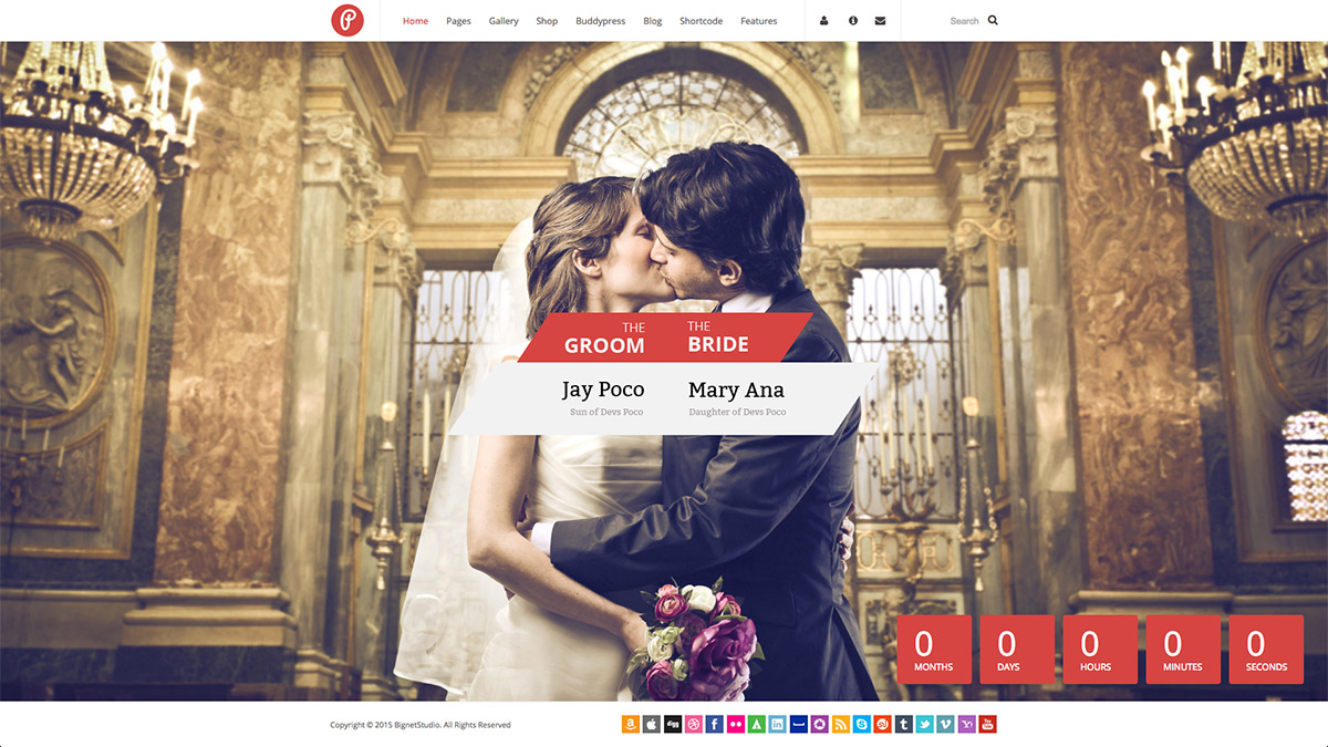 responsive wedding wordpress