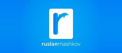 rusian mashkov dolphin logo design