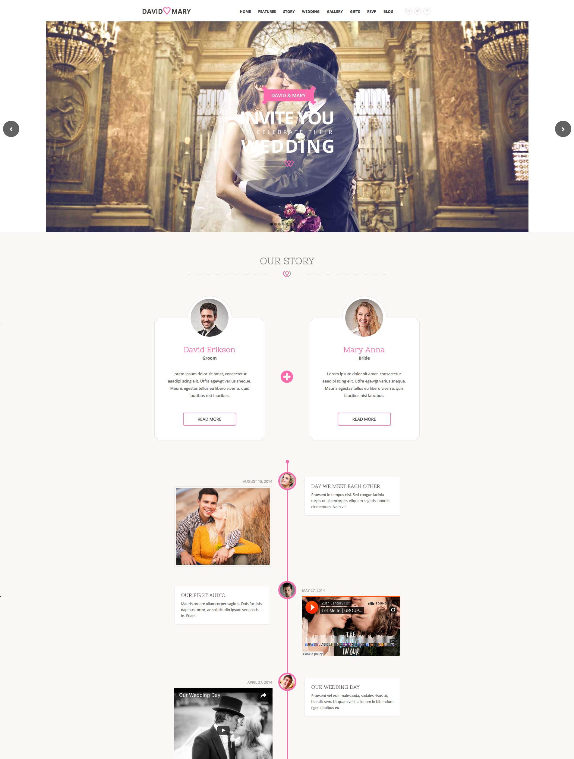 wedding wordpress premium theme