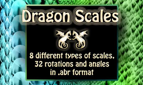 dragon scales brush set free