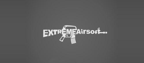 extreme airsoft gun logo design