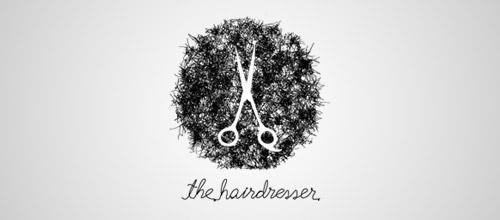 hairdresser scissors logo design