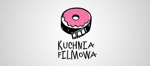 kuchina filmowa donut logo design
