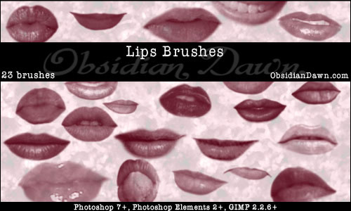 lips mouth photoshop brushes