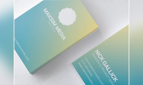maksim media gradient business card