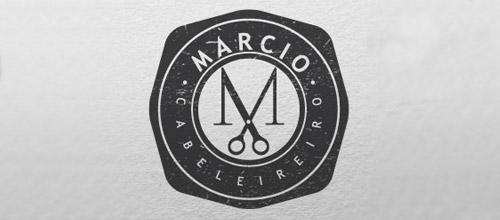 marcio scissors logo design