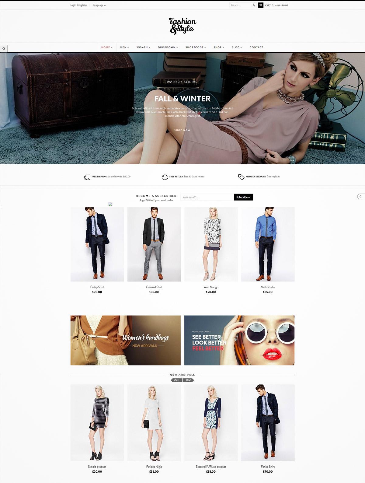 modern shop themes