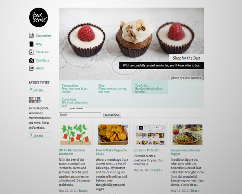 food sense web design