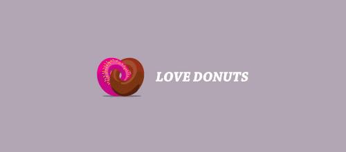love donuts logo design