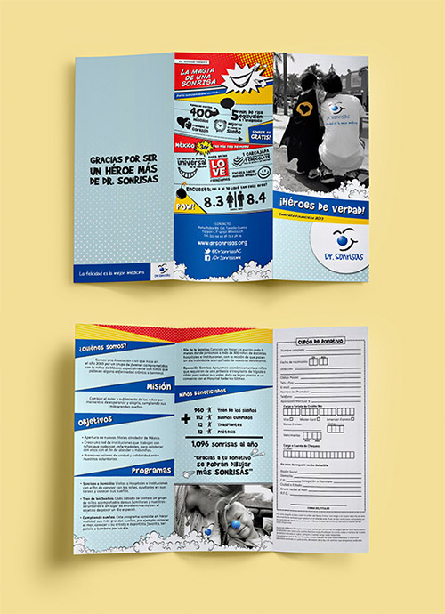 advertising trifold brochure