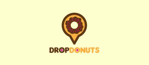 drop donuts logo design