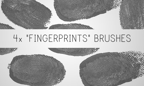 fingerprints brushes photoshop