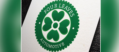 four leaves clover automotive logo