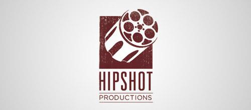 hipshot gun logo design