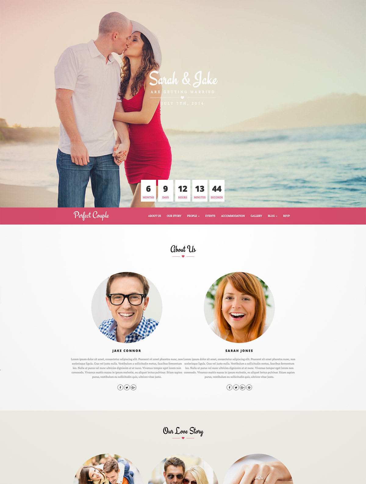 perfect wedding wordpress