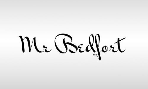 bedfort font vintages