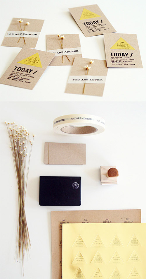 flower diy business card