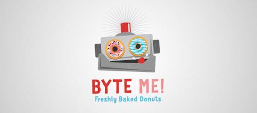 fresh donuts logo byte me