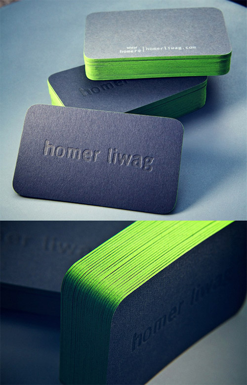 homer liwag neon business card