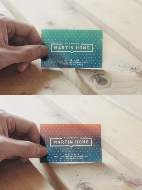 martin hong business card gradient
