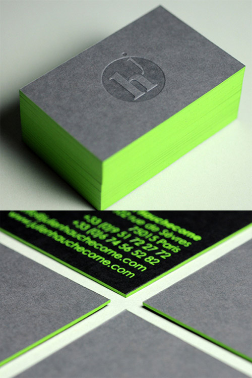 julien green neon business card