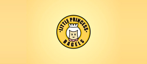 little princess bagels logo design