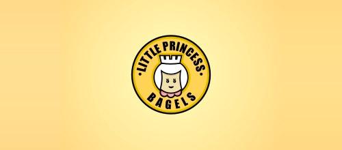 little princess bagels logo design