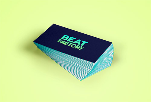 blue green gradient business card
