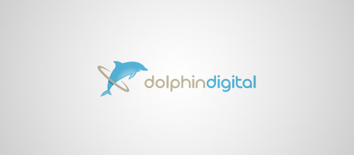dolphin digital logo design