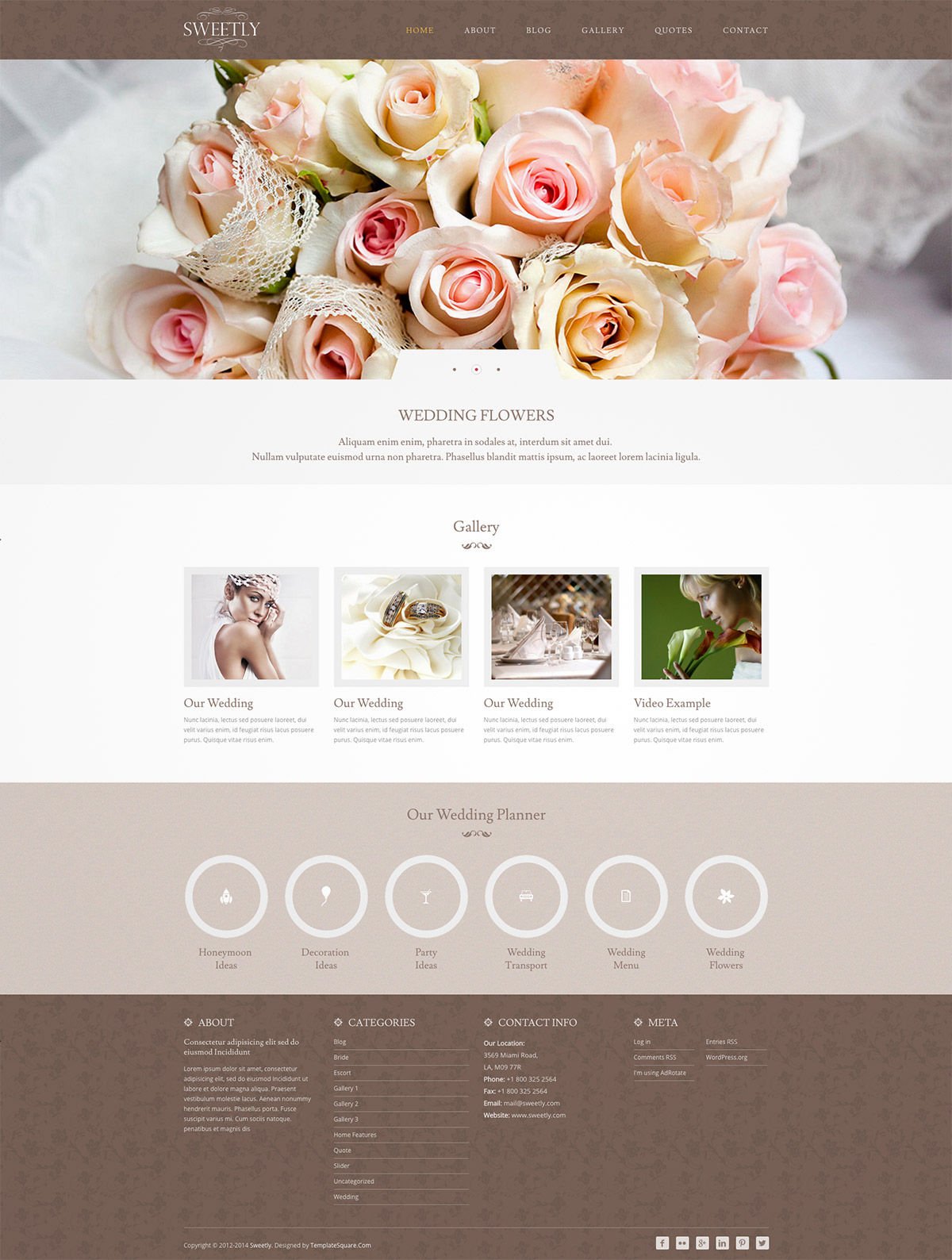 elegant wedding wordpress