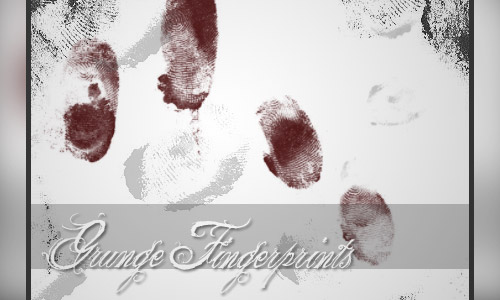 grunge fingerprints brushes