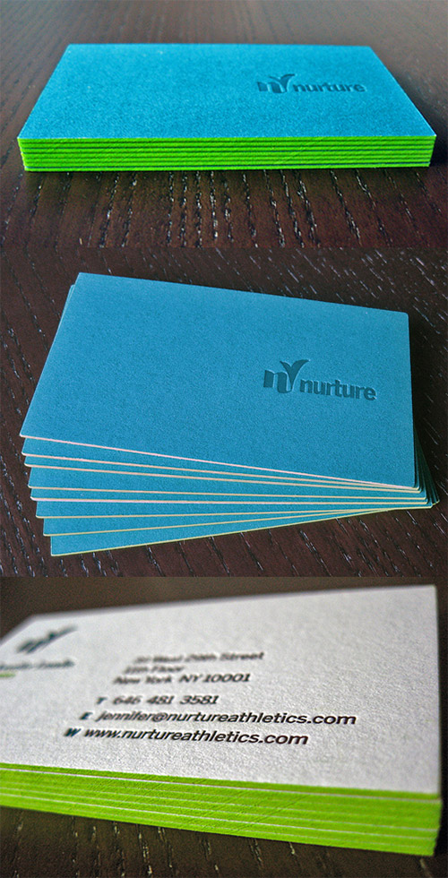 nurture green neon business card