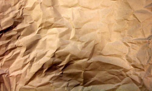 old wrinkled paper bag texture