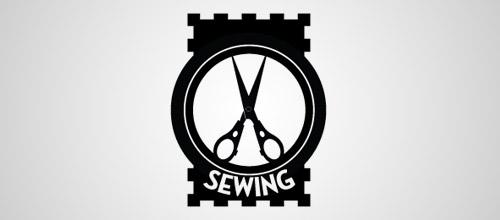 scissors sewing logo