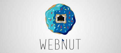 webnut donut logo design