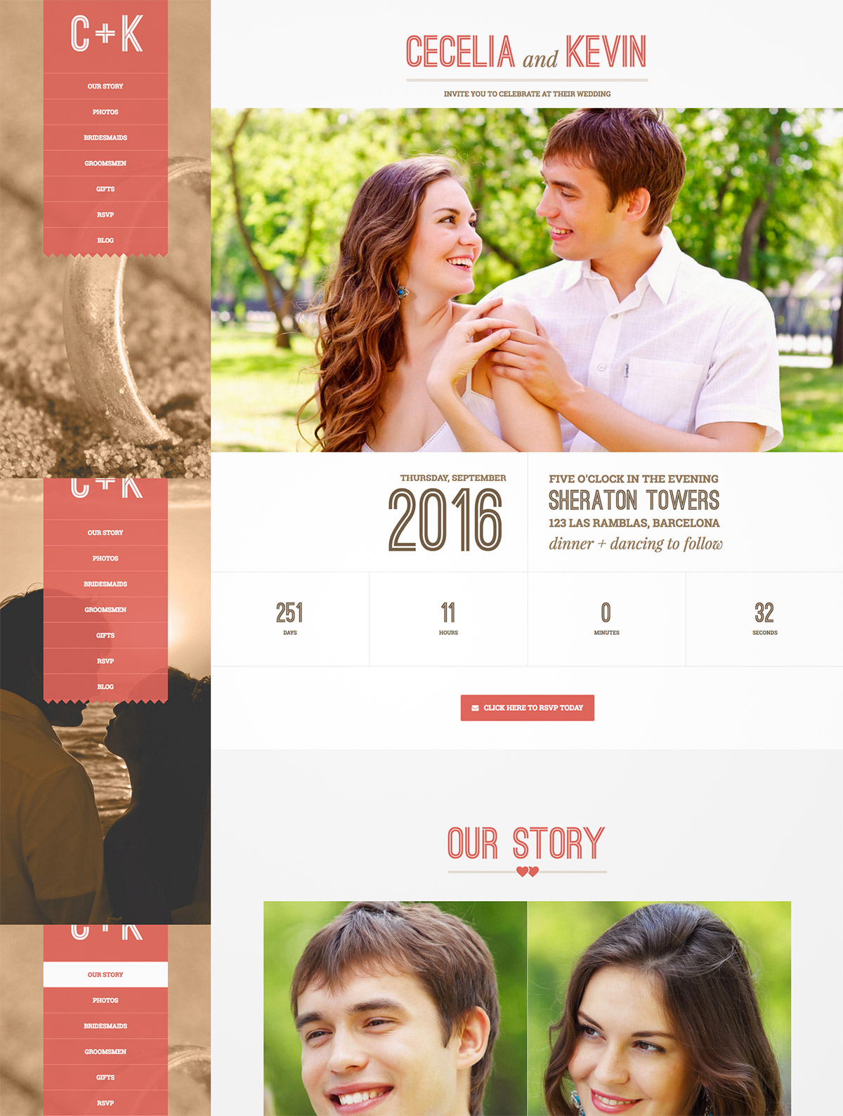 cute wedding wordpress