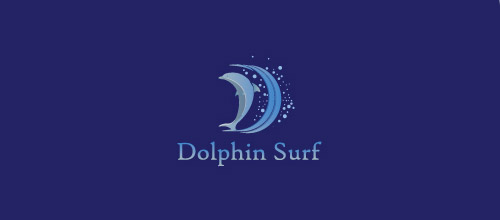 dolphin surf logo design