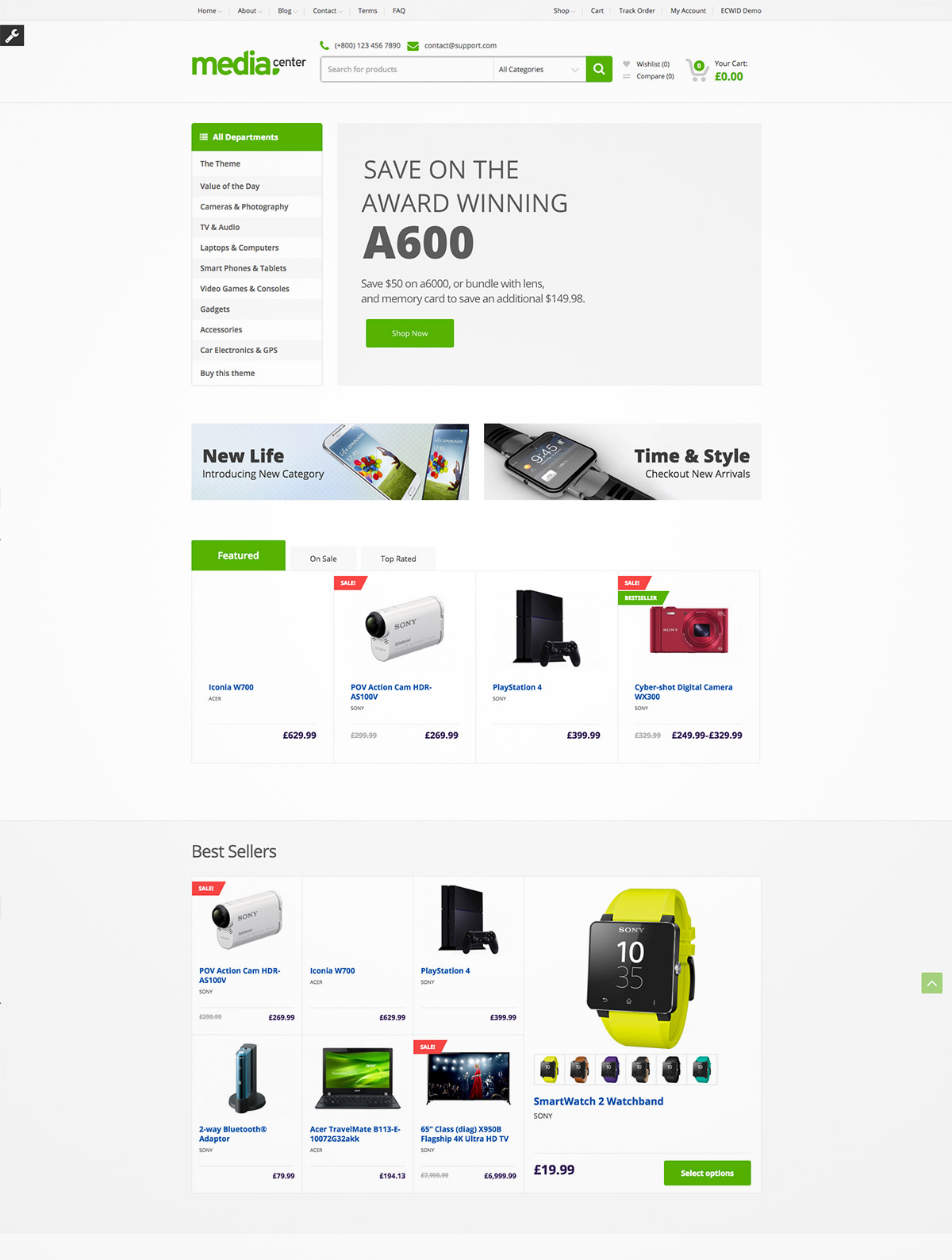 electronic online store