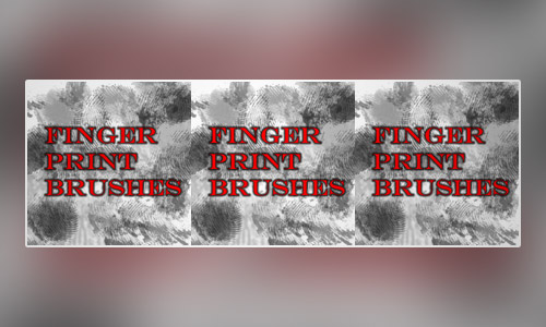 fingerprint brushes free photoshop