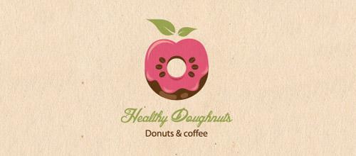 healthy doughnuts logo donut
