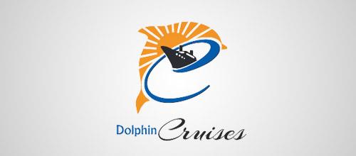 dolphin cruises logo design
