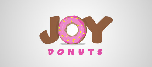 joy donuts logo design