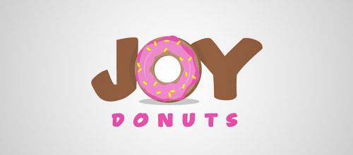 joy donuts logo design