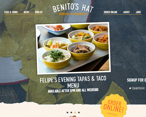 Mexican food web design